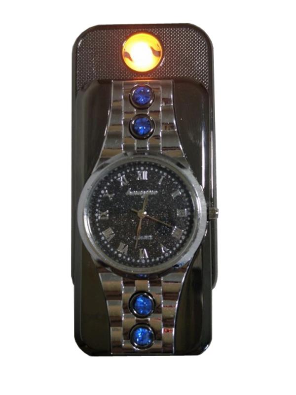 Bật lửa hồng ngoại kiêm đồng hồ ZD809 sạc USB cao cấp (màu ngẫu nhiên)