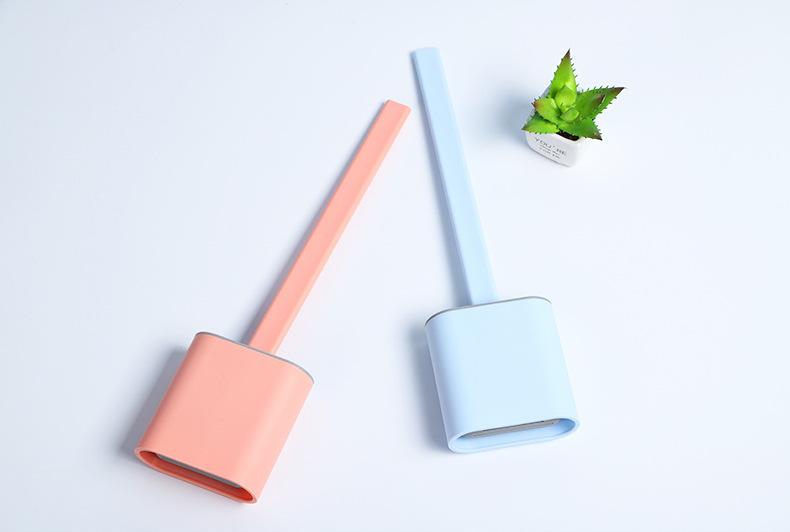 Bộ dụng cụ vệ sinh chổi cọ bồn cầu silicon bàn chải mền mại cọ mọi ngóc ngách cọ sạch nhanh tay cầm chắc chắn độ bền cao giảm bào mòn lông chải (Giao màu ngẫu nhiên)