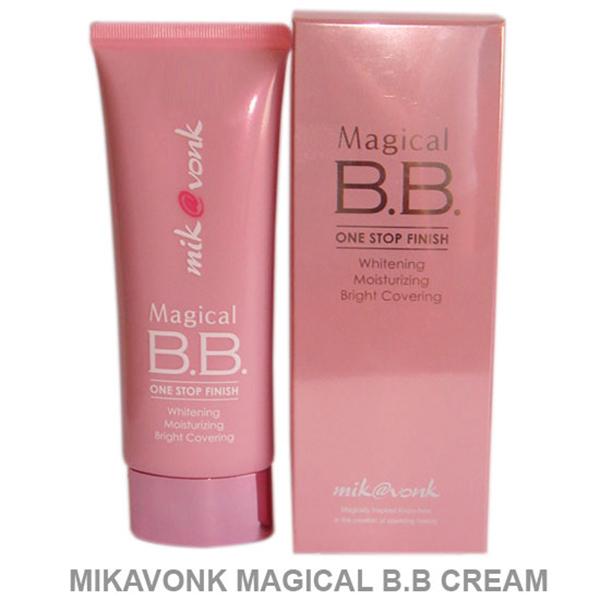 Kem nền trang điểm Mik@vonk Magical BB Cream Hàn Quốc 60g tặng kèm móc khoá
