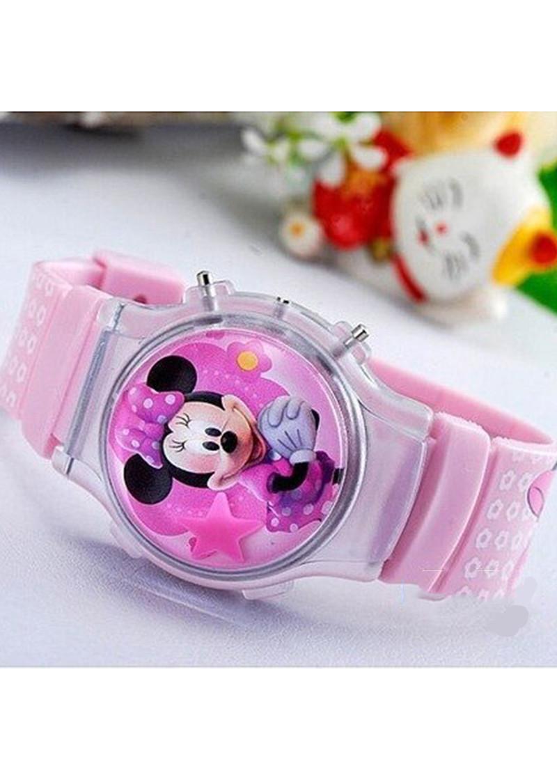 Đồng Hồ Trẻ Em Thời Trang Điện Tử DH029BE Họa Tiết Hoạt Hình Chuột Mickey, Minnie (Chọn Mẫu)