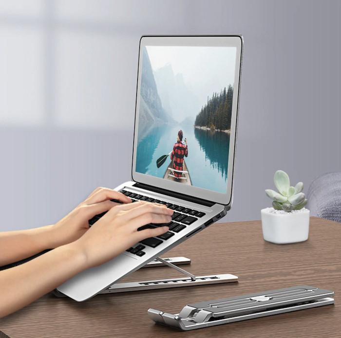 Đế tản nhiệt cho Laptop, Macbook - Giá đỡ, kệ đỡ, phụ kiện cao cấp cho Macbook, Laptop bằng hợp kim nhôm thông minh gấp gọn Horizen N1