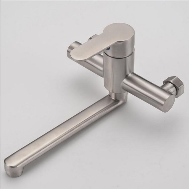 Vòi rửa bát gắn tường nóng lạnh INOX 304