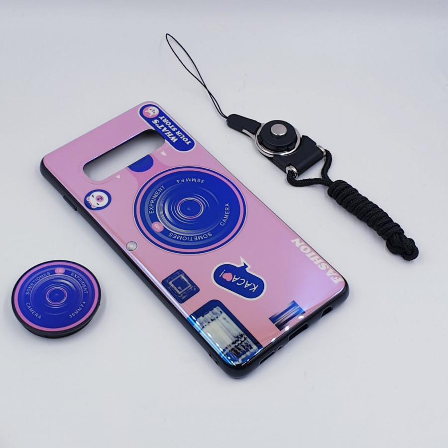 Ốp lưng hình máy ảnh kèm giá đỡ và dây đeo dành cho Samsung Galaxy S7,S7 Edge,S8,S8 Plus,S9,S9 Plus,S10,S10 Plus - Samsung Galaxy S10 - Hồng - 23414434 , 4195774334690 , 62_15352717 , 150000 , Op-lung-hinh-may-anh-kem-gia-do-va-day-deo-danh-cho-Samsung-Galaxy-S7S7-EdgeS8S8-PlusS9S9-PlusS10S10-Plus-Samsung-Galaxy-S10-Hong-62_15352717 , tiki.vn , Ốp lưng hình máy ảnh kèm giá đỡ và dây đeo dàn