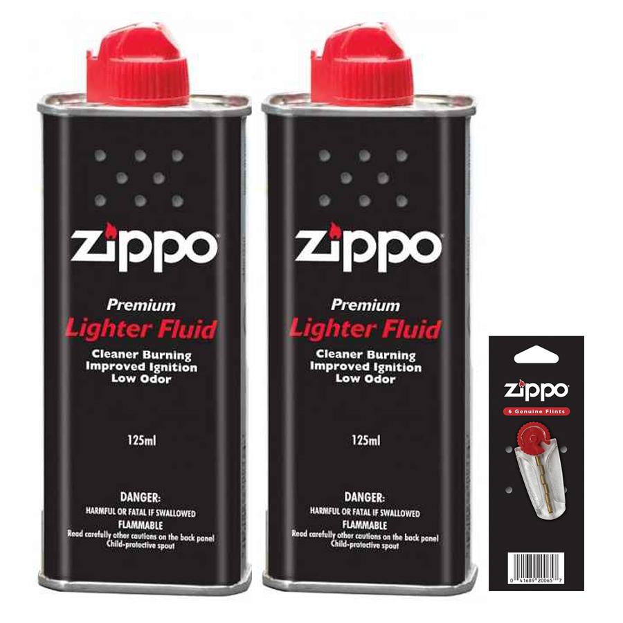 Bộ 2 Xăng 1 Đá Zippo
