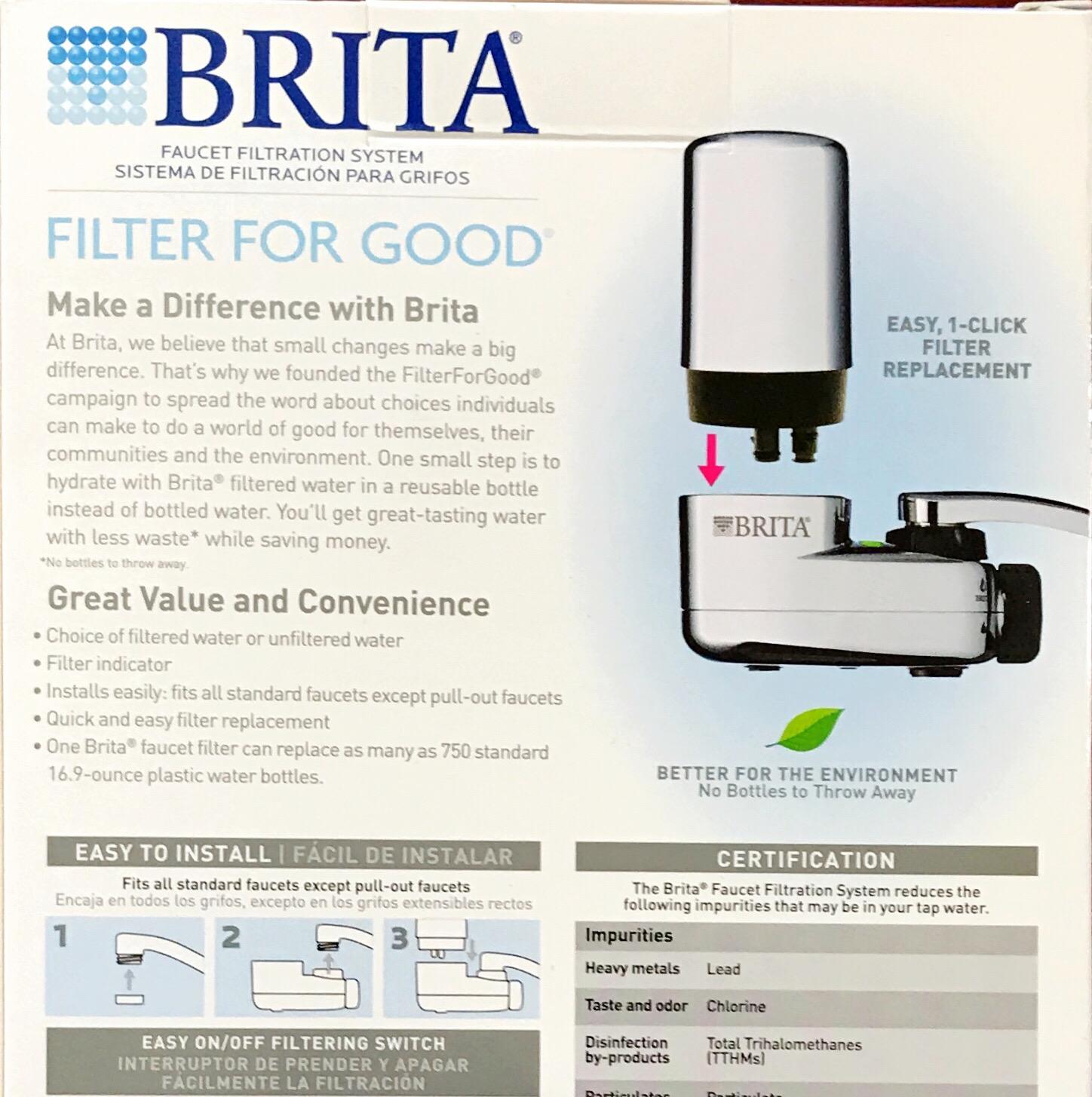 Lọc nước tại vòi Brita hàng nhập khẩu