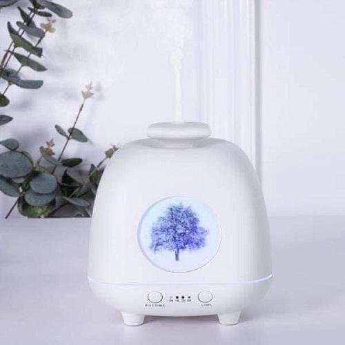 Máy khuếch tán tinh dầu cây thông bốn mùa màu trắng-dung tích 230ml-nhỏ nhắn xinh xắn