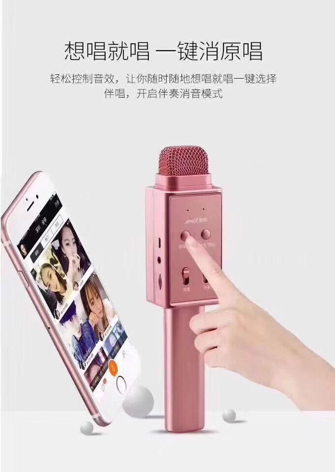 Mic Karaoke Bluetooth K1 - Hàng Nhập Khẩu (Giao Màu Ngẫu Nhiên)