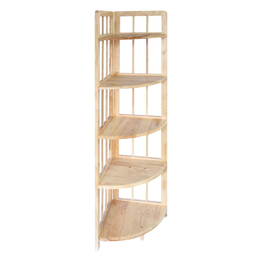 Kệ Góc Lớn 5 Tầng Phương Lâm (38 x 38 x 160 cm) - Màu Tự Nhiên