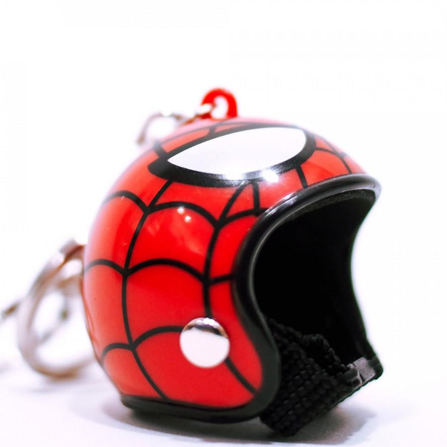 Móc khóa nón bảo hiểm - Người nhện Spiderman