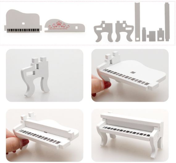 Đồ chơi gỗ - Lắp ghép mô hình Phòng khách công chúa thu nhỏ - Gia công mịn
