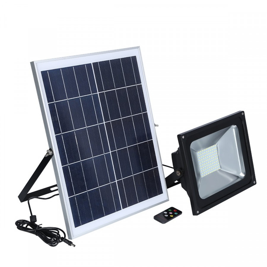 Đèn pha led sân vườn năng lượng mặt trời có remote 20W A3 - 3608