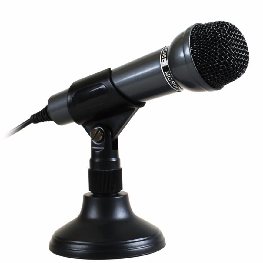 Micro thu âm cho PC, laptop SM-098 (đen) tặng kèm 1 móc khóa huýt sáo