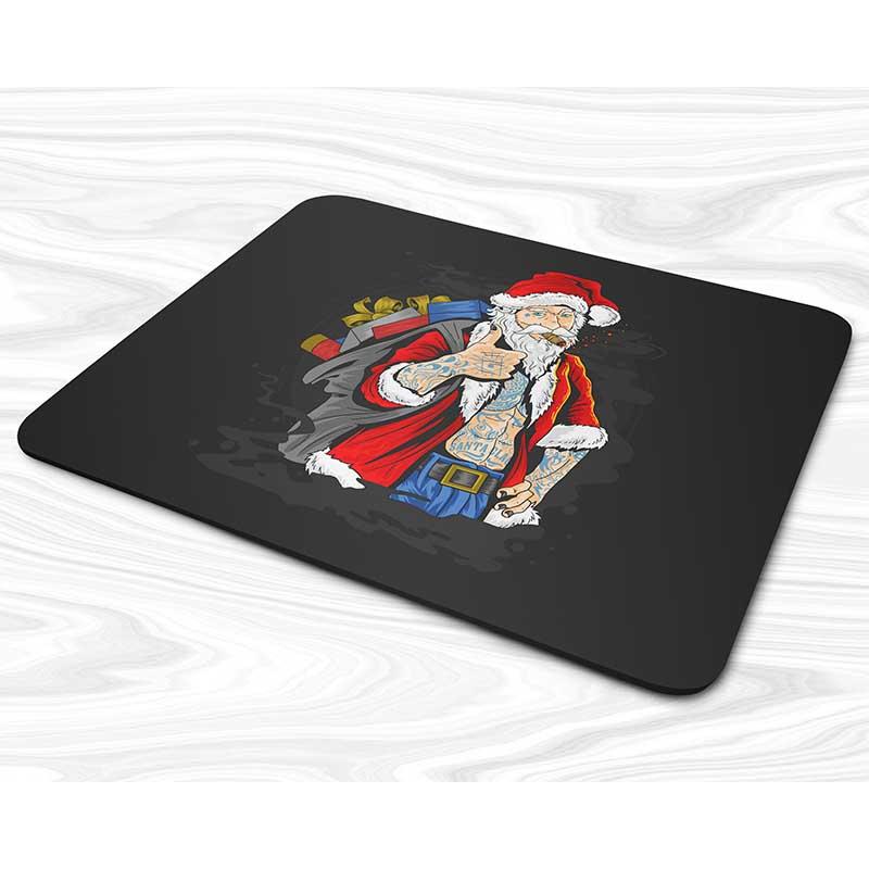 Miếng lót chuột mẫu Giáng sinh họa tiết Ông Già Noel đeo quà
