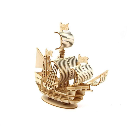 Mô hình lắp ráp thuyền buồm gỗ 3D trang trí