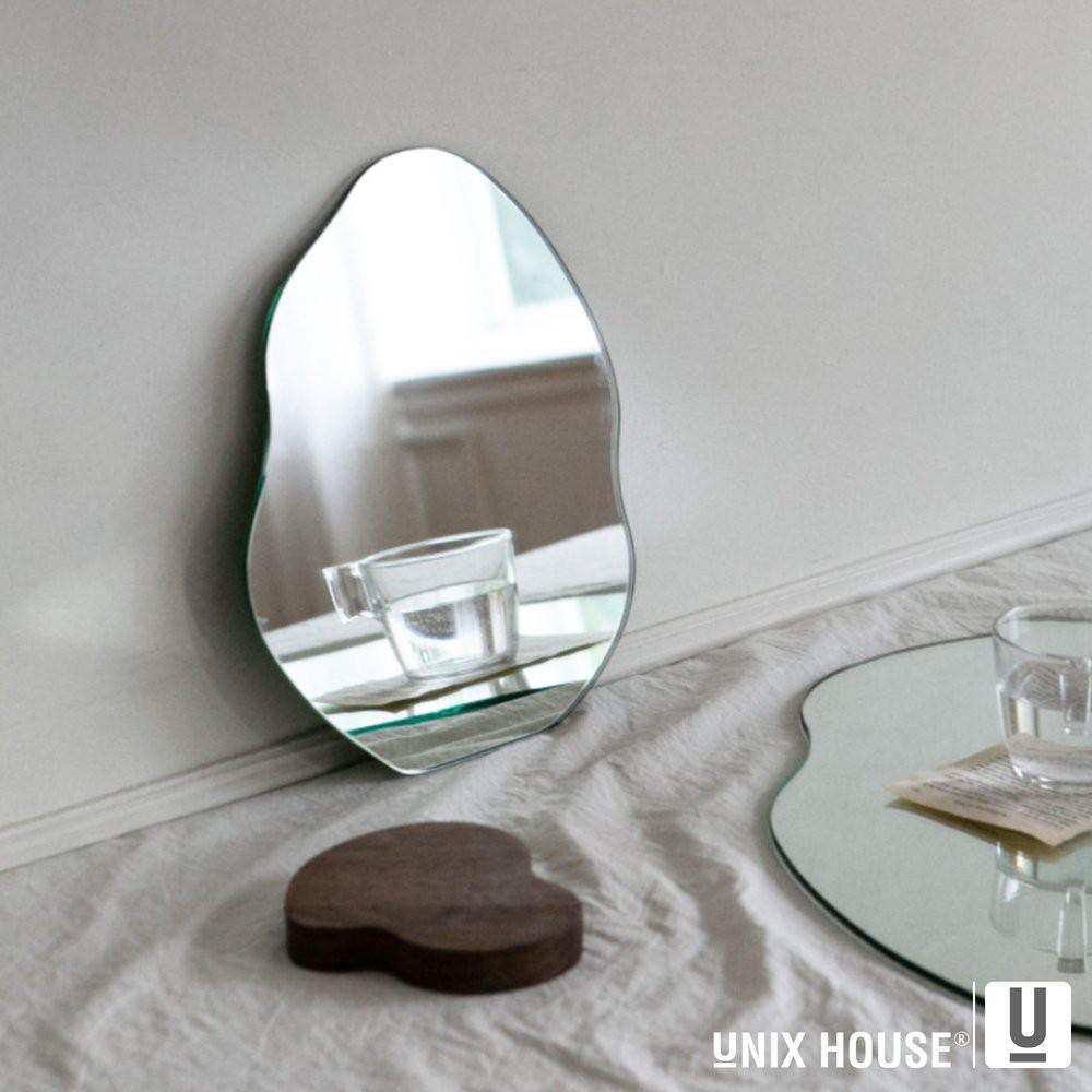 Gương decor trang điểm để bàn độc đáo unix đế gỗ có thể tách rời trang trí phòng cực kỳ sang trọng với phôi gương từ bỉ