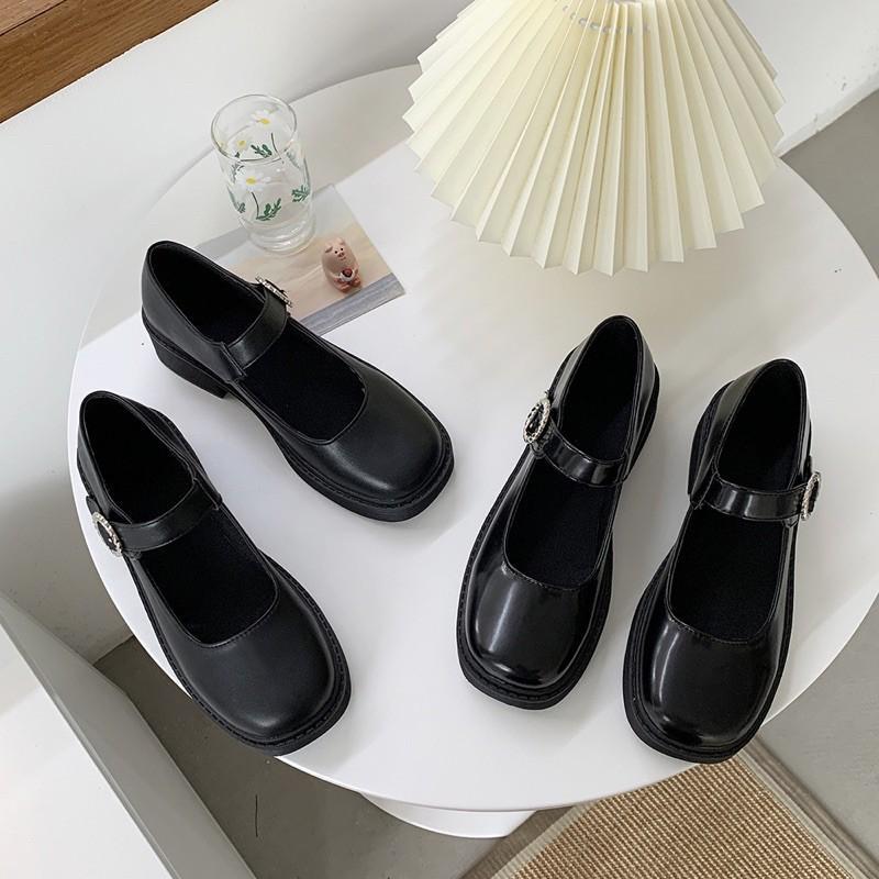 Giày Lolita basic vintage khoá ngang 2021