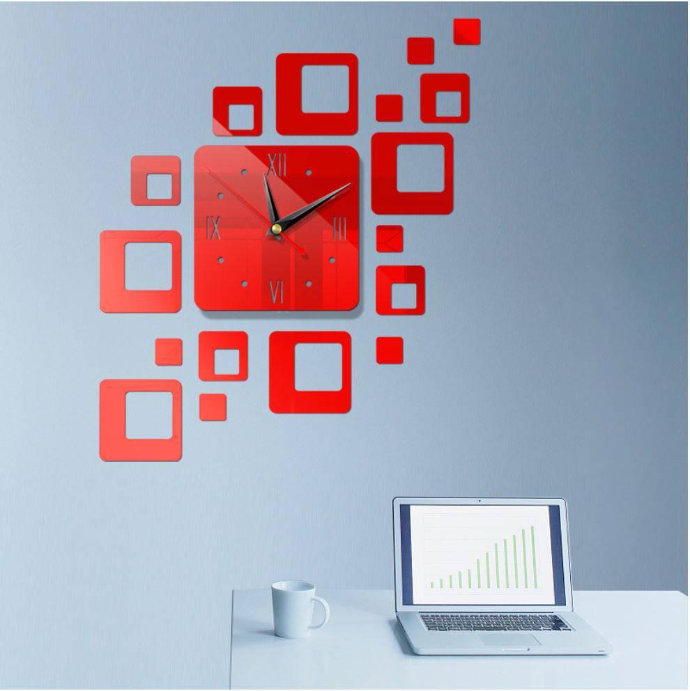 Đồng hồ dán tường SAMIRA 3D kiểu dáng độc đáo dùng cho trang trí nhà cửa