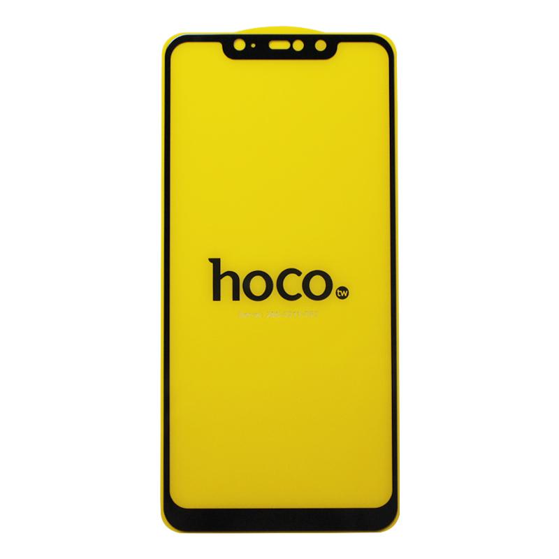 Miếng dán kính cường lực cho Xiaomi Redmi Note 6 Pro Hoco Full màn hình - Đen - Hàng chính hãng