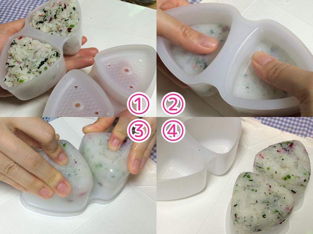 Combo 2 thìa inox Twins uống trà + khuôn làm cơm, cuộn sushi nội địa Nhật Bản