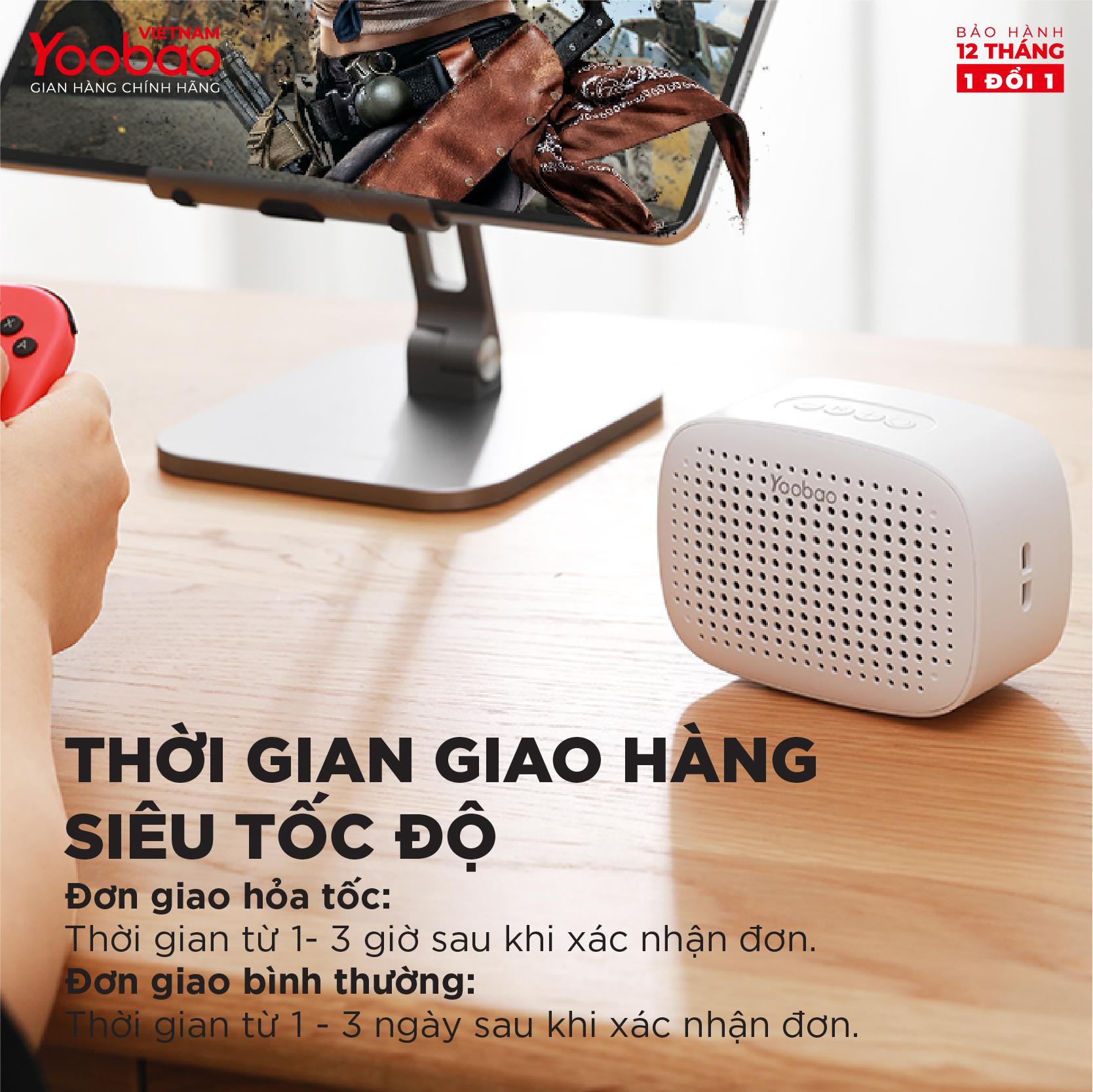Loa Bluetooth 5.0 Yoobao M2 Hỗ trợ ghép đôi TWS Công suất 3W - Hàng chính hãng