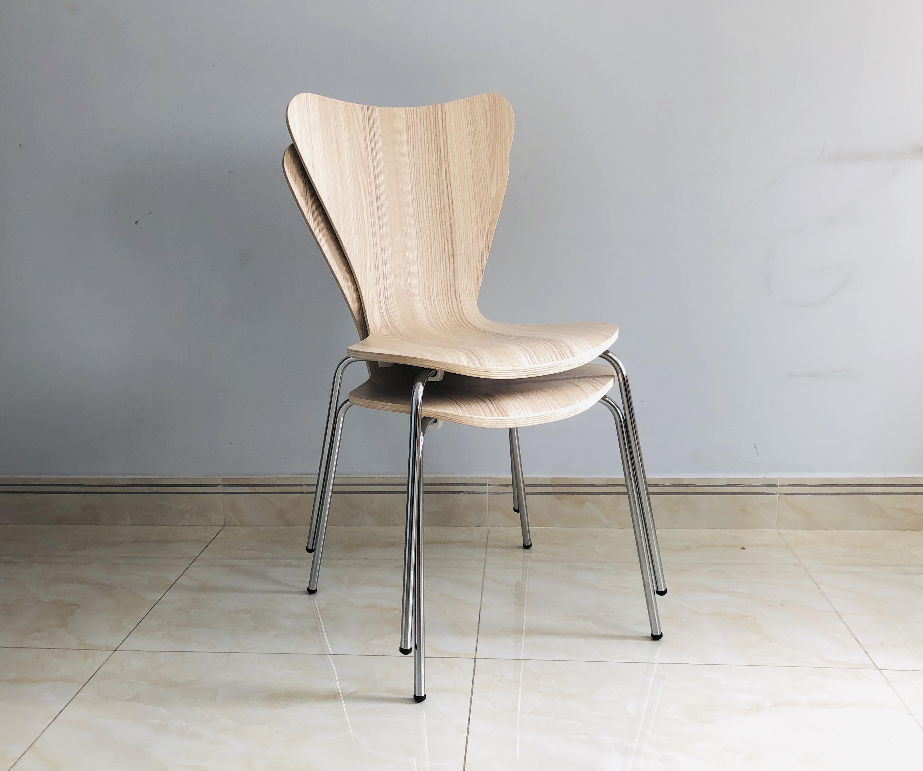 Bộ 2 Ghế phòng ăn Joy Chair Series 7 JC0101 - Màu Sồi trắng