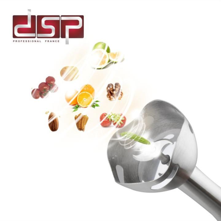 Máy xay sinh tố cầm tay DSP đa năng 4 trong 1 - Hàng nhập khẩu - Trọng lượng: 1.7kg - Điện áp: 220-240V 50/60Hz - Mã: KM1004 - Màu đỏ