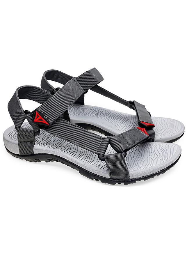 Sandal quai hậu nam Việt Thủy kiểu dáng thời trang (xám) - VT1147