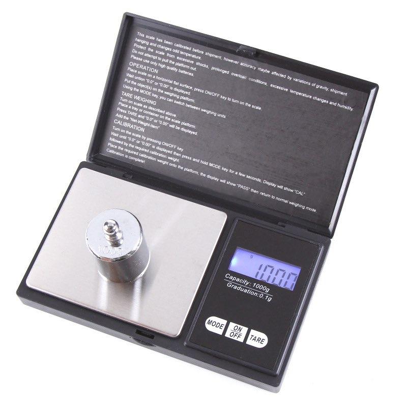 Cân điện tử tiểu li bỏ túi 1000g-0.1g . Cân tiểu ly điện tử mini