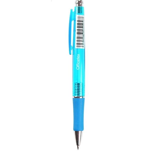 Bộ 5 Bút Bi Officetex OT-BP010BU - Mực Xanh - Mẫu 2 - Thân Bút Xanh Da Trời