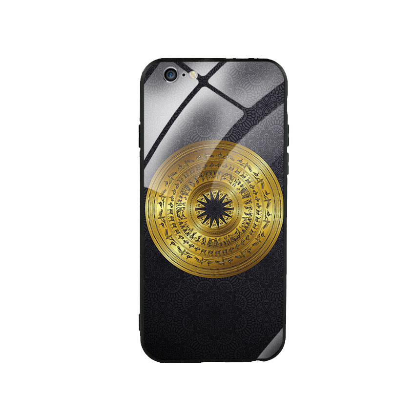 Ốp Lưng Kính Cường Lực cho điện thoại Iphone 6 Plus  6s Plus - Trống Đồng 05
