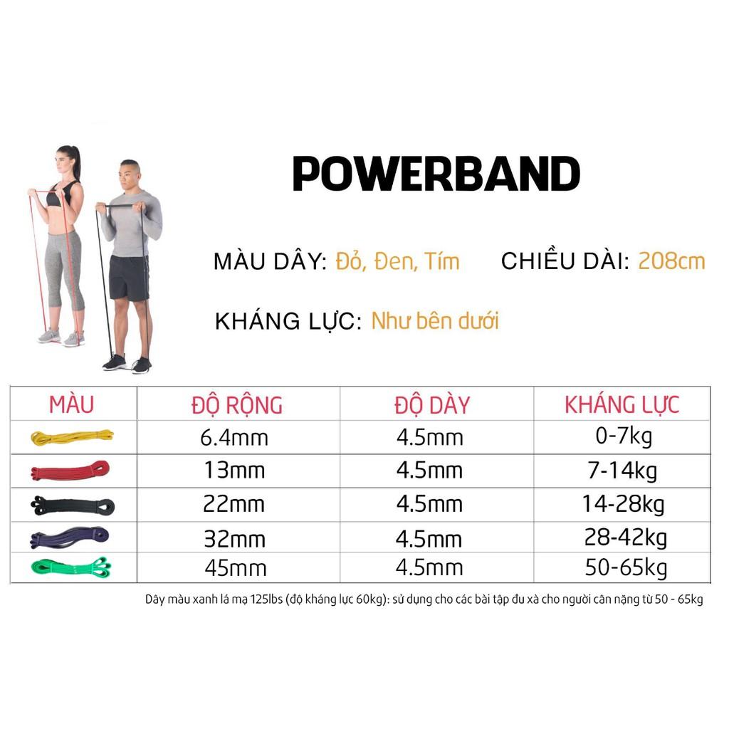 Dây kháng lực Power Band, Dây kháng lực tập gym, tập chân, mông - Phụ kiện tập chân mông dây cao su tập gym cao cấp (SP119)
