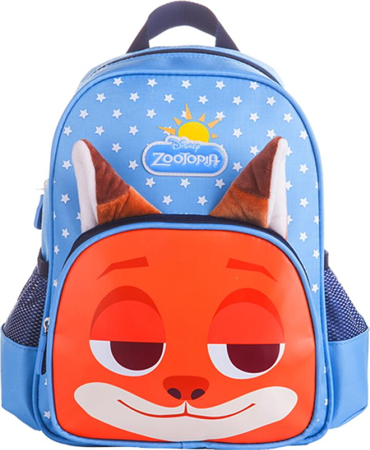 Disney Madness Animal City Childrens Schoolbags Boys and Girls Kindergarten Schoolbags Boys and Girls Cartoon Baby Backpack Blue Fox Nick