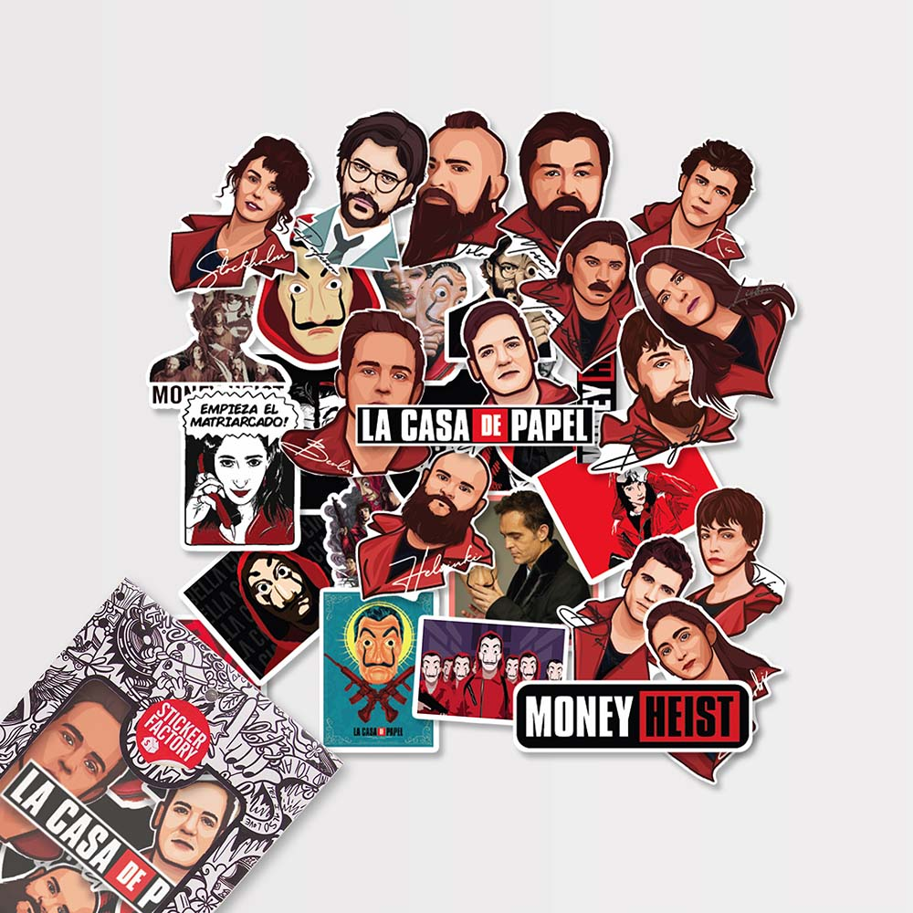 Money Heist - Set 30 sticker hình dán