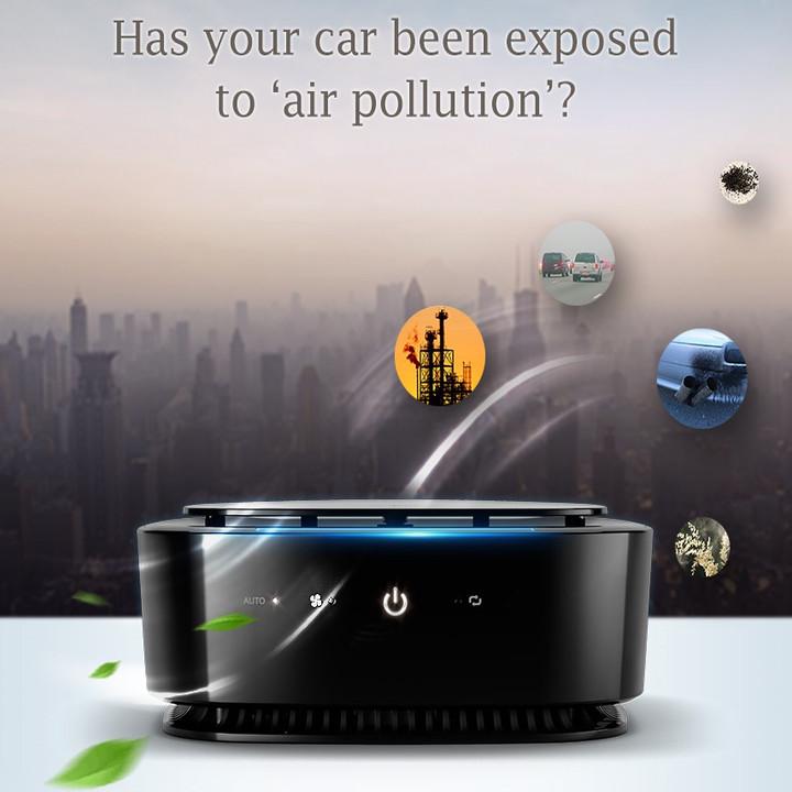Máy khử mùi, lọc không khí trên xe ô tô Philips GP6201 công nghệ Airmax đời mới nhất - Hàng Nhập Khẩu