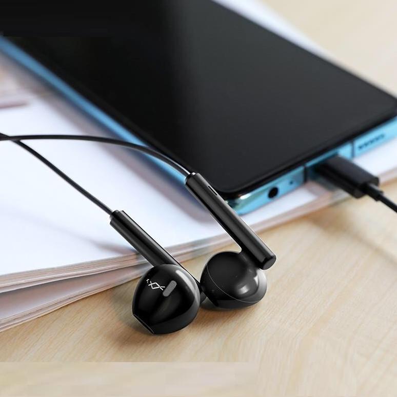 Tai nghe Hoco chân Type-C dài 1.2M có mic ( 2 màu ) - Hàng chính hãng
