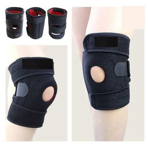 Miếng đệm đầu gối thể thao-Miếng đệm bảo vệ đầu gối co giãn có khóa dán và khóa zip linh hoạt 56*21cm+ Tặng kèm hình dán ngẫu nhiên