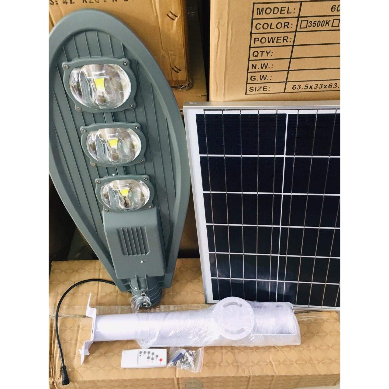Đèn Đường Năng Lượng Mặt Trời Chiếc Lá Siêu Sáng - Công Suất 150W - Công Nghệ LED COB Tiết Kiệm Năng Lượng