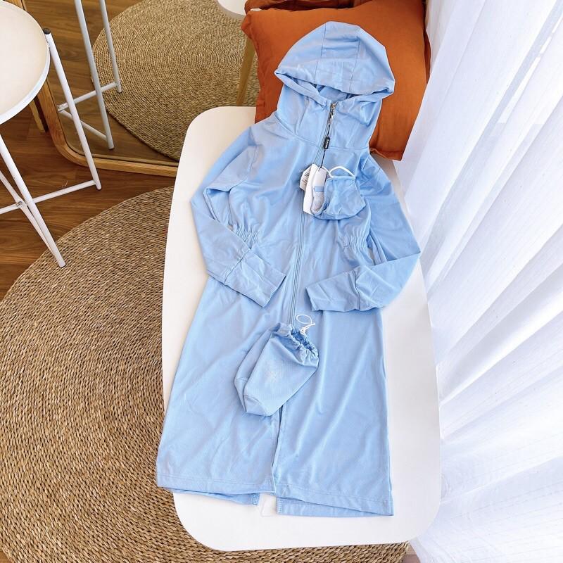 Áo choàng nắng TOÀN THÂN cho BÉ chống tia UV tốt bảo vệ khỏi tác hại của mặt trời