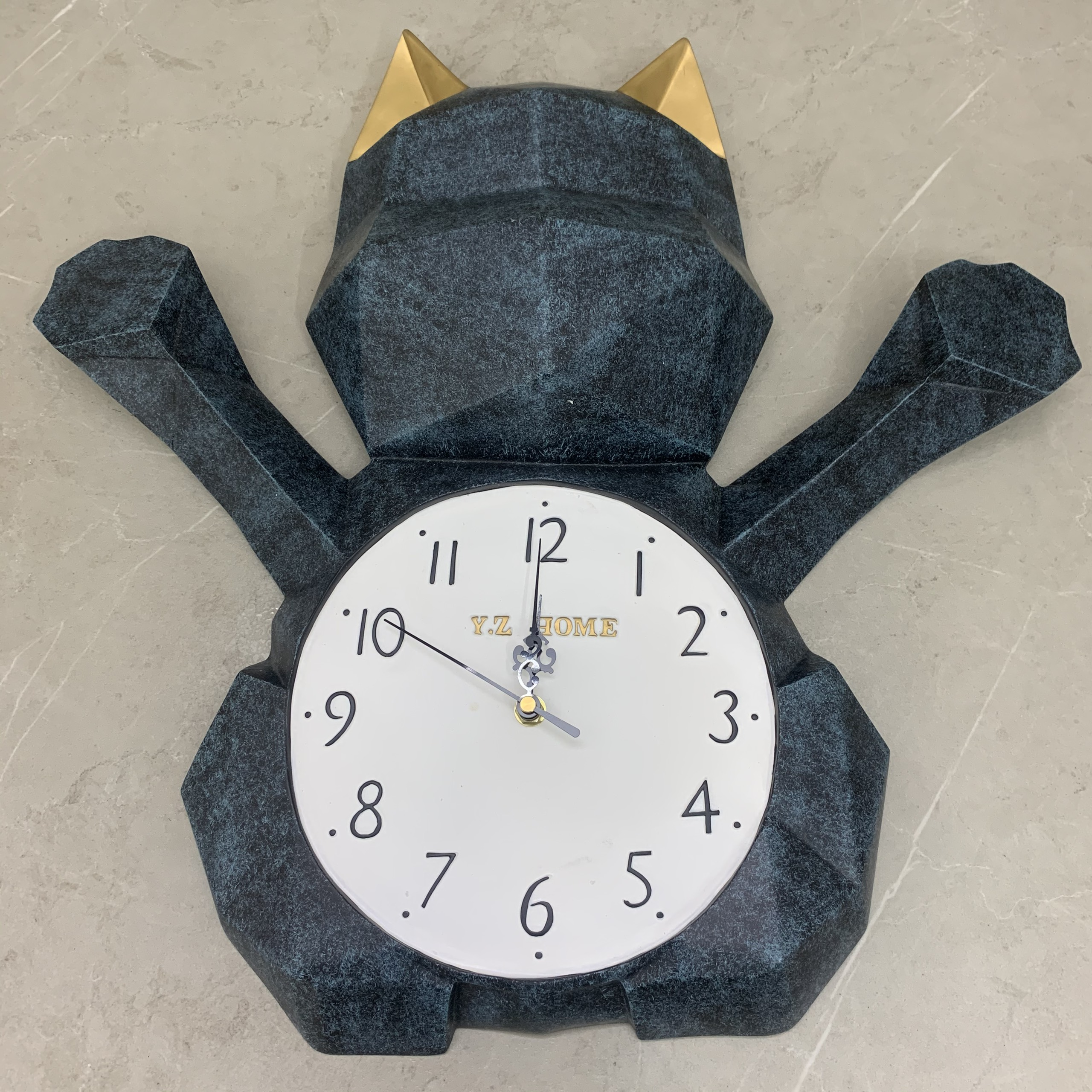 Đồng hồ trang trí treo tường cao cấp 0019 – Mô hình mèo may mắn