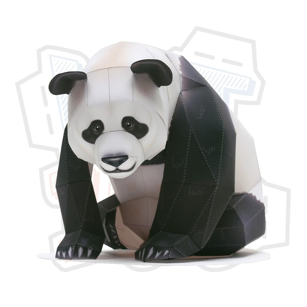 Mô hình giấy động vật Gấu trúc ver 2