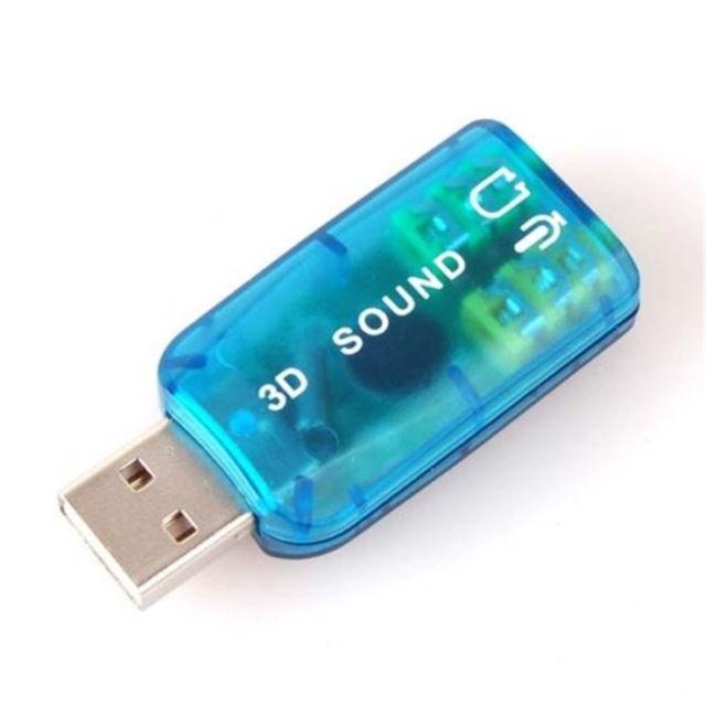 Usb Ra Sound 5.1 (3D) Hỗ Trợ 1 Jack Âm Thanh, 1 Jack Mic