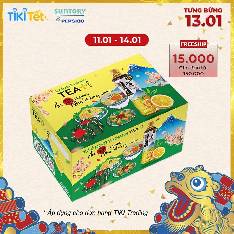 Thùng 24 Chai Trà Oolong Vị Chanh Tea 24 x 455ml