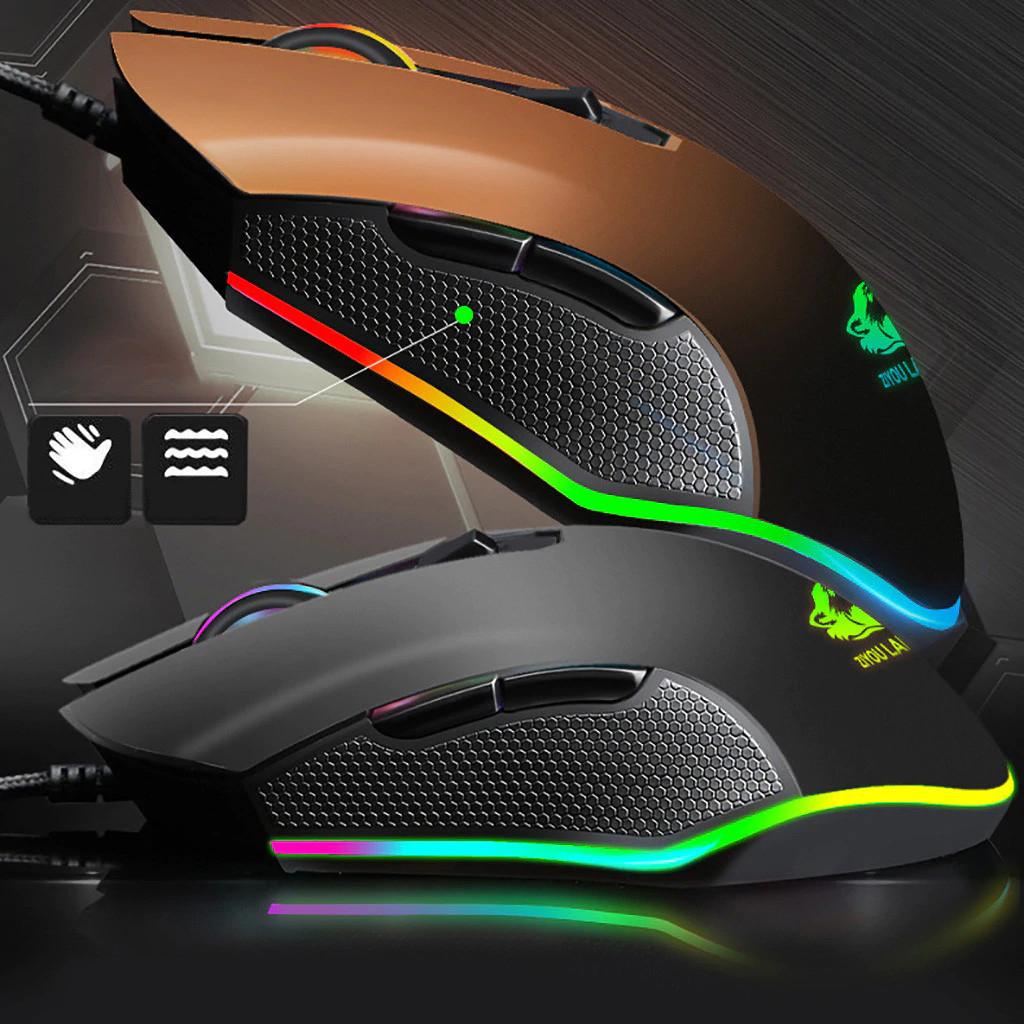 Chuột Chơi Game Có Dây V1 Led RGB 16 triệu màu - Siêu Bền - 3200 DPI - Hàng Chính Hãng