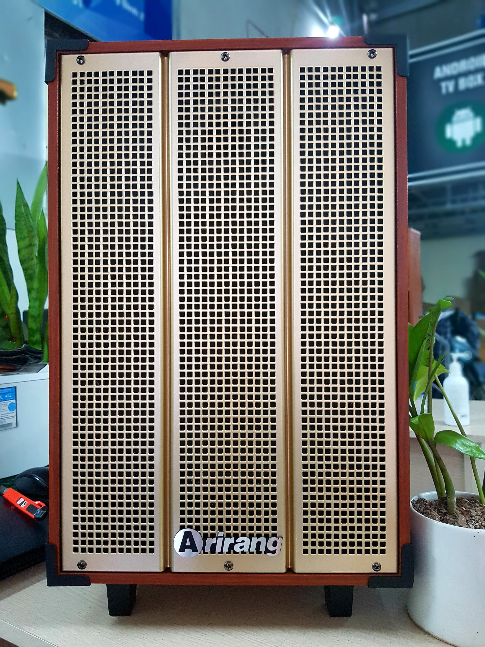 Bộ Loa Kéo di động karaoke Arirang MKS1 Kèm 02 Micro + Bộ sạc pin, Pin sạc- SẢN PHẨM CHÍNH HÃNG