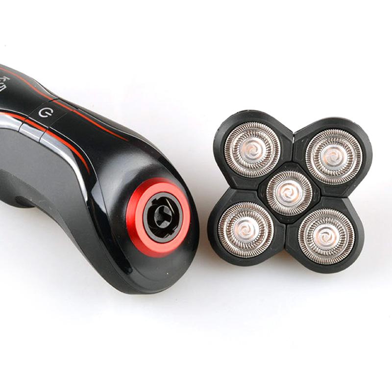 Máy cạo râu 5D Kemei KM-6181 chống thấm nước có thể cạo khô và ướt, có đầu tỉa phụ dùng tỉa tóc mai, ria mép tiện lợi