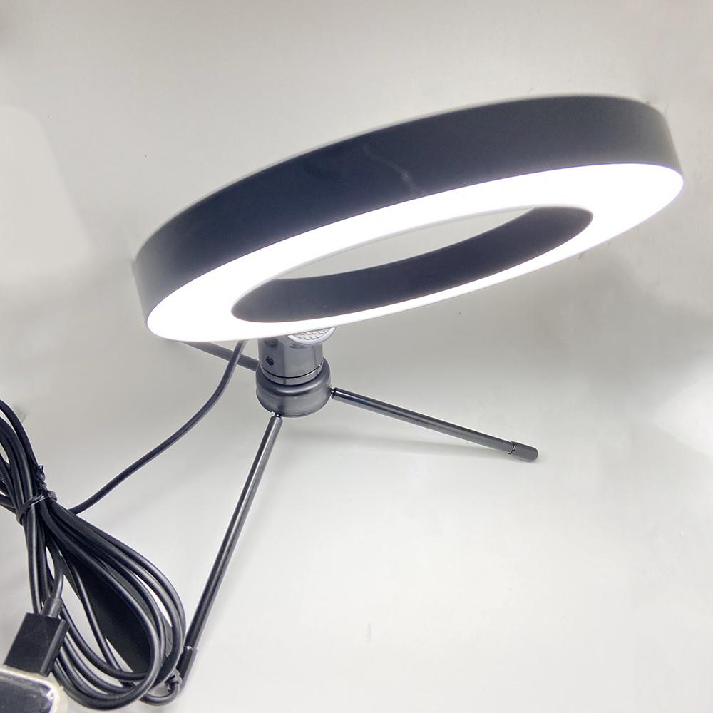 Bộ đèn livestream mini 3 chế độ 16cm có giá đỡ 3 chân xoay 360  kèm kẹp điện thoại - Hàng chính hãng