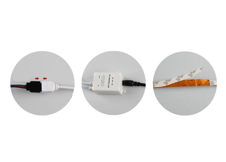 Bộ Đèn LED Dây Dán 5050 Phủ Keo Silicon Đổi 7 Màu V-L-D-RGB (RGB)
