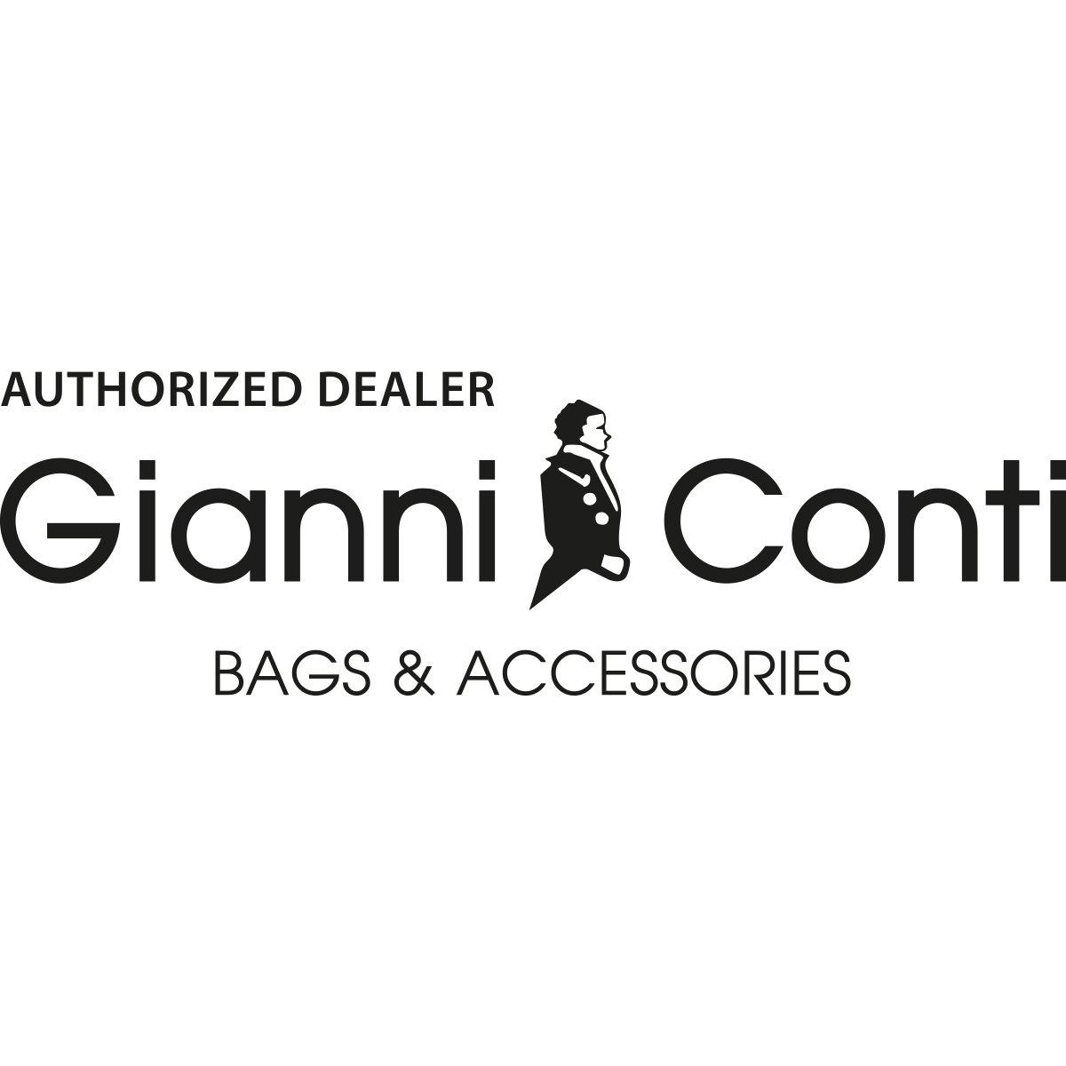 Ví nam da bò cao cấp Gianni Conti Italy 587620BLA - màu đen
