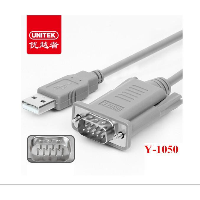 Cáp Chuyển USB Sang COM Unitek 1.5M - USB To COM RS232 - Hàng Chính Hãng