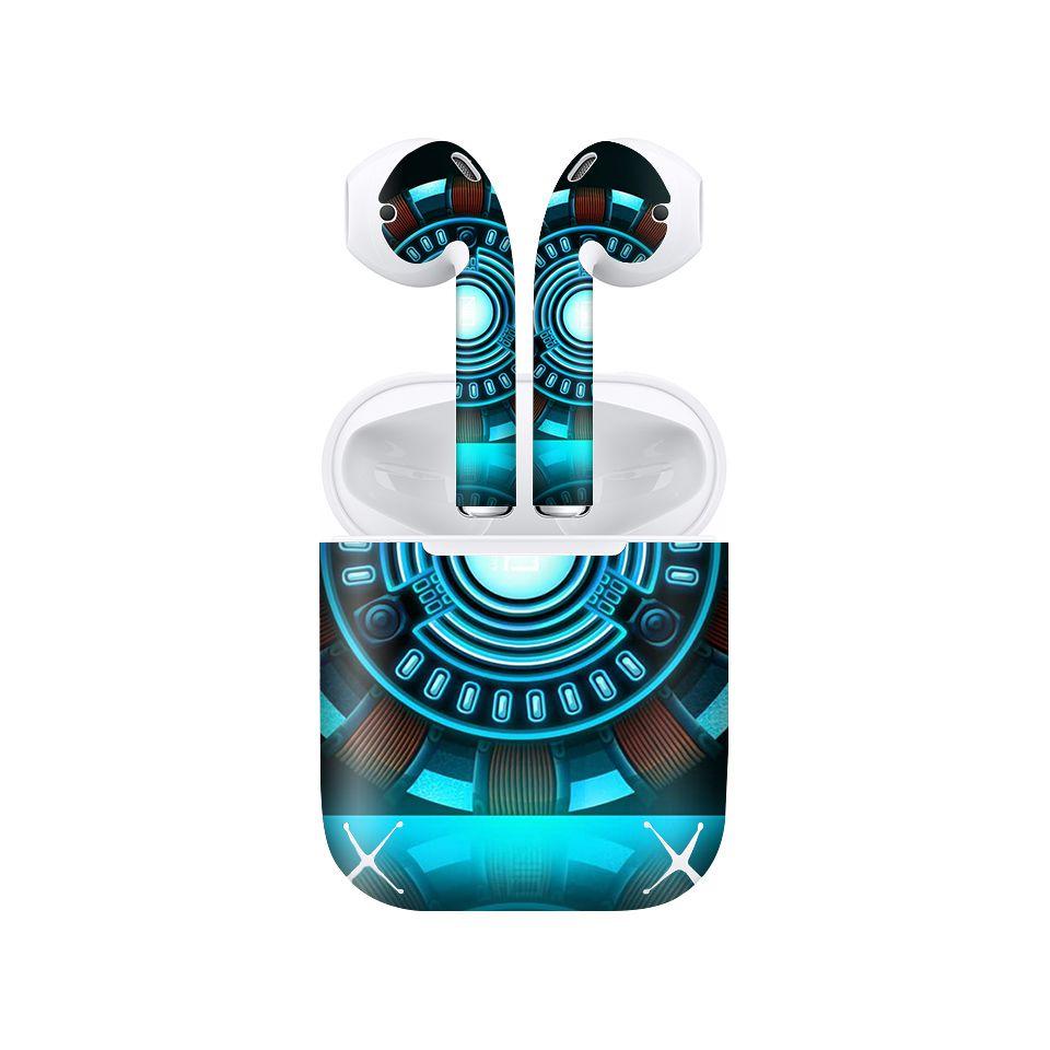 Miếng dán skin chống bẩn cho tai nghe AirPods in hình siêu anh hùng - SAH0091 (bản không dây 1 và 2)